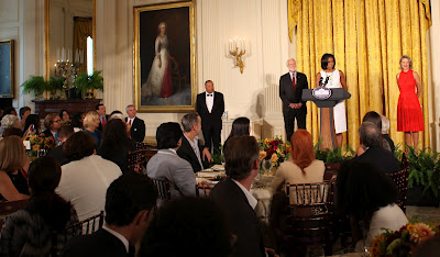 MICHELLE OBAMA HONORS JANINE BENYUS AT WHITE HOUSE LUNCHEON